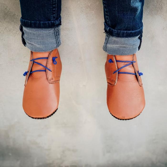 Pantofi cu talpă moale Liliputi cu crampoane antialunecare - Urban Boho 2