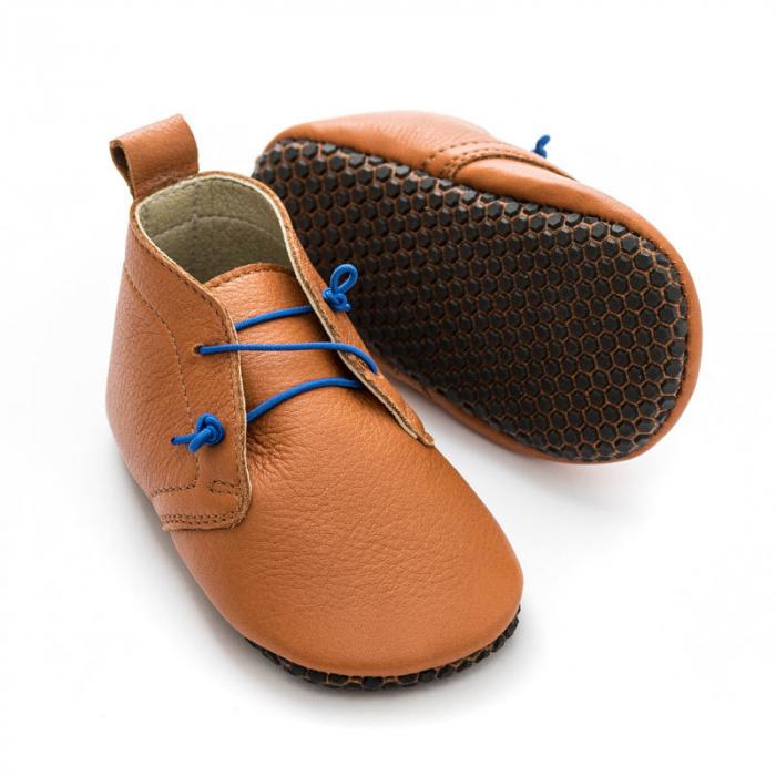 Pantofi cu talpă moale Liliputi cu crampoane antialunecare - Urban Boho 0