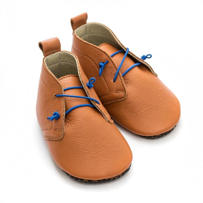 Pantofi cu talpă moale Liliputi cu crampoane antialunecare - Urban Boho 4