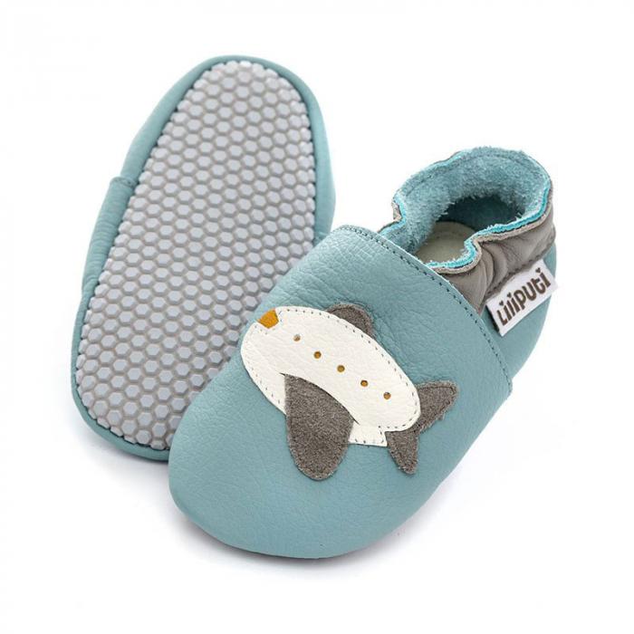 Pantofi cu talpă moale Liliputi cu crampoane antialunecare - Jumbo [0]