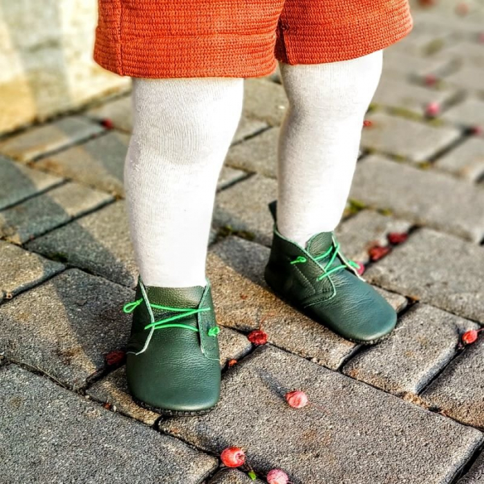 Pantofi cu talpa moale Liliputi cu crampoane antialunecare - Urban Jungle [3]