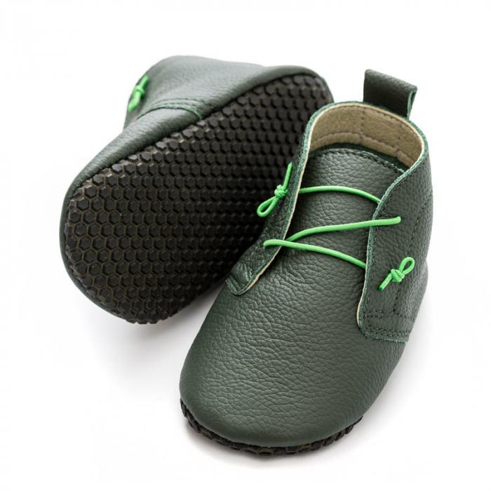 Pantofi cu talpa moale Liliputi cu crampoane antialunecare - Urban Jungle [0]