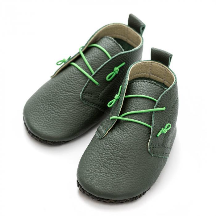 Pantofi cu talpa moale Liliputi cu crampoane antialunecare - Urban Jungle [2]