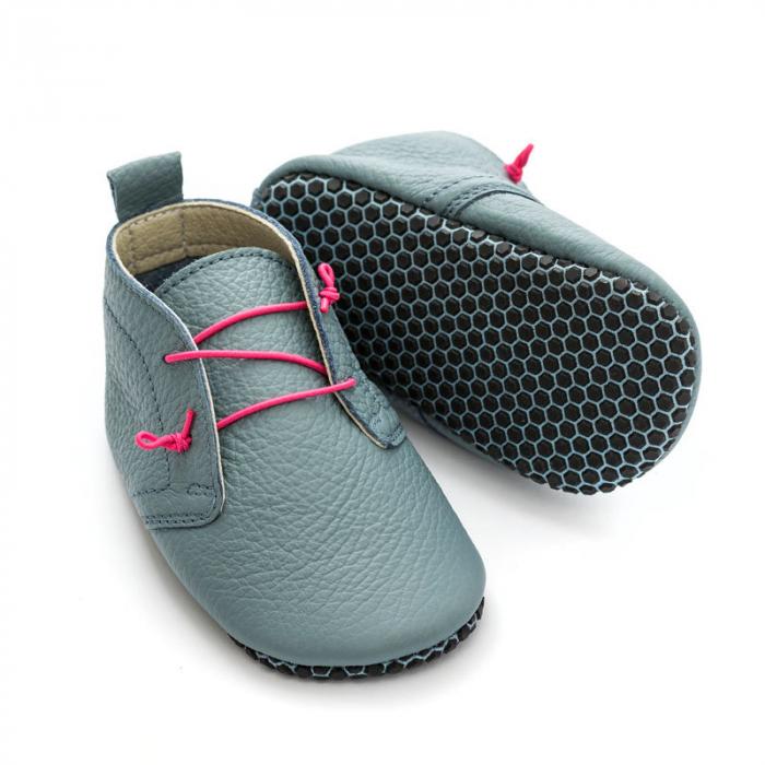 Pantofi cu talpă moale Liliputi cu crampoane antialunecare - Urban Cloud 0
