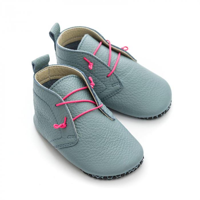 Pantofi cu talpă moale Liliputi cu crampoane antialunecare - Urban Cloud 2