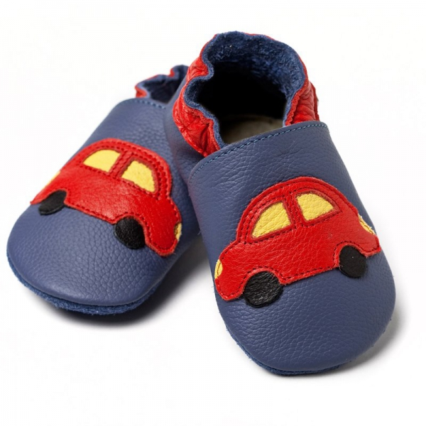 Pantofi cu talpă moale Liliputi® - Blue Cars V8 0