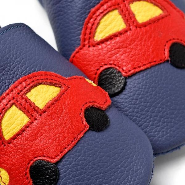 Pantofi cu talpă moale Liliputi® - Blue Cars V8 1