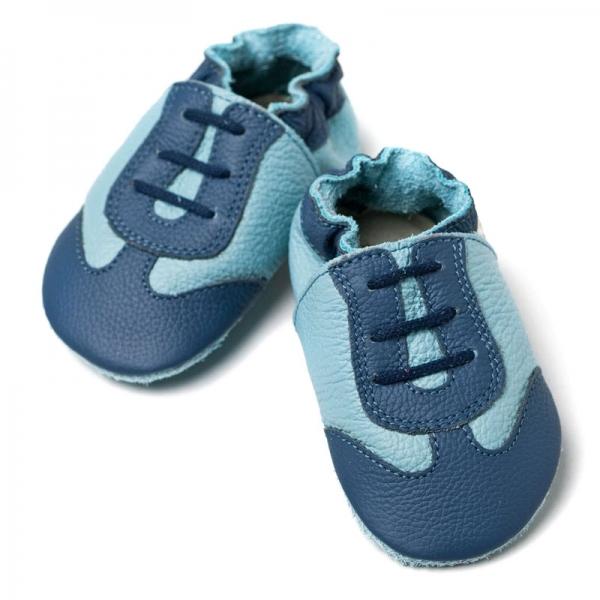 Pantofi cu talpă moale Liliputi® - Blue Sport 0