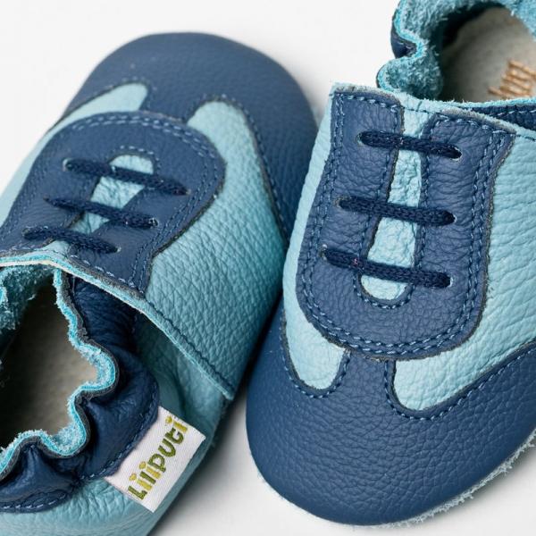 Pantofi cu talpă moale Liliputi® - Blue Sport 1