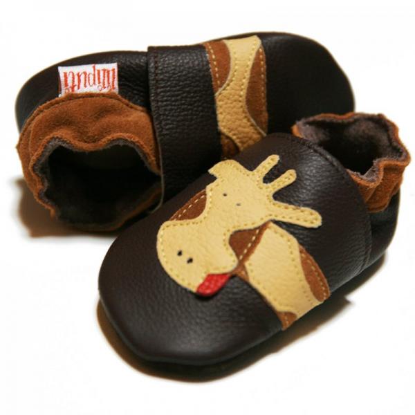 Pantofi cu talpă moale Liliputi® - Brown Giraffe 0