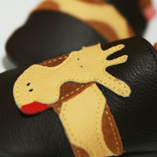 Pantofi cu talpă moale Liliputi® - Brown Giraffe 1