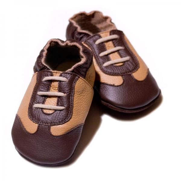Pantofi cu talpă moale Liliputi® - Brown Sport 0