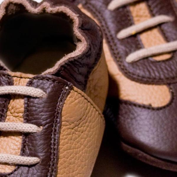 Pantofi cu talpă moale Liliputi® - Brown Sport 1
