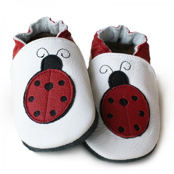 Pantofi cu talpă moale Liliputi® - Miss Ladybug 0