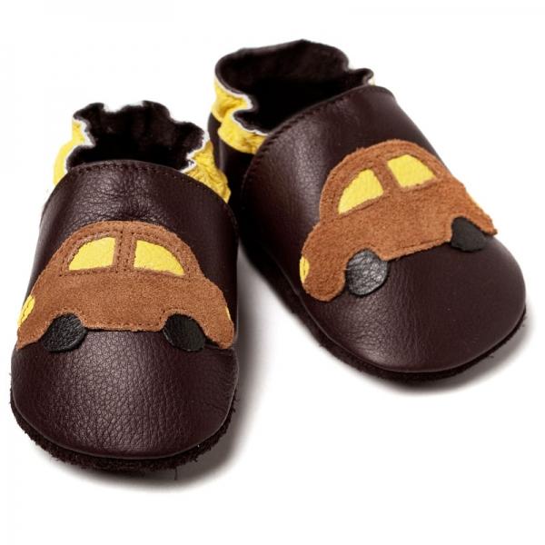 Pantofi cu talpă moale Liliputi® - Brown cars bi-turbo 2