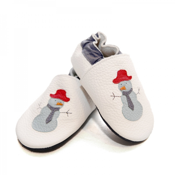 Pantofi cu talpă moale Liliputi® - Funky Snowman 0