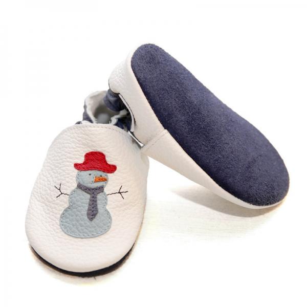 Pantofi cu talpă moale Liliputi® - Funky Snowman 2