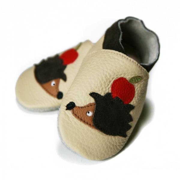 Pantofi cu talpă moale Liliputi® - Hedgehog Friends 0