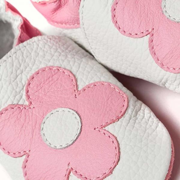 Pantofi cu talpă moale Liliputi® - Pink Flowers 1
