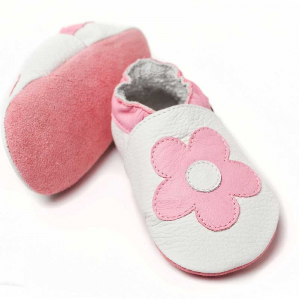 Pantofi cu talpă moale Liliputi® - Pink Flowers 2