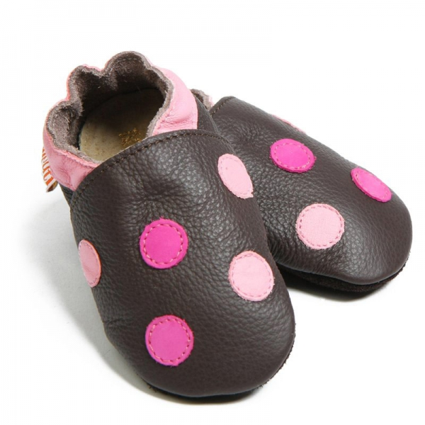 Pantofi cu talpă moale Liliputi® - Polka Dots 0