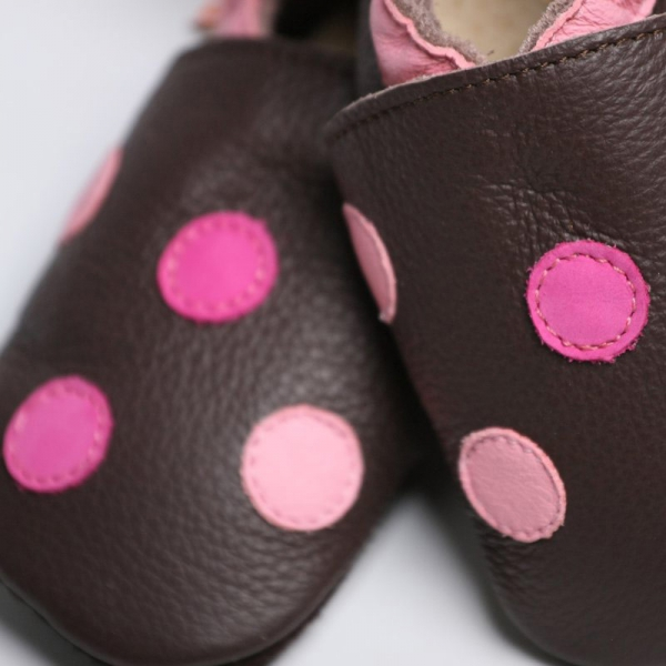 Pantofi cu talpă moale Liliputi® - Polka Dots 1