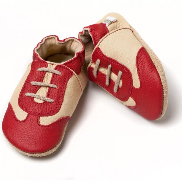 Pantofi cu talpă moale Liliputi® - Red Sport 0