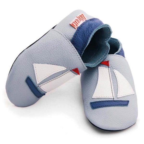 Pantofi cu talpă moale Liliputi® - Sailboat 0