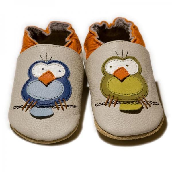 Pantofi cu talpă moale Liliputi® - Silent Birds 0