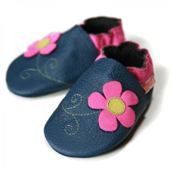 Pantofi cu talpă moale Liliputi® - Spring Flower 0