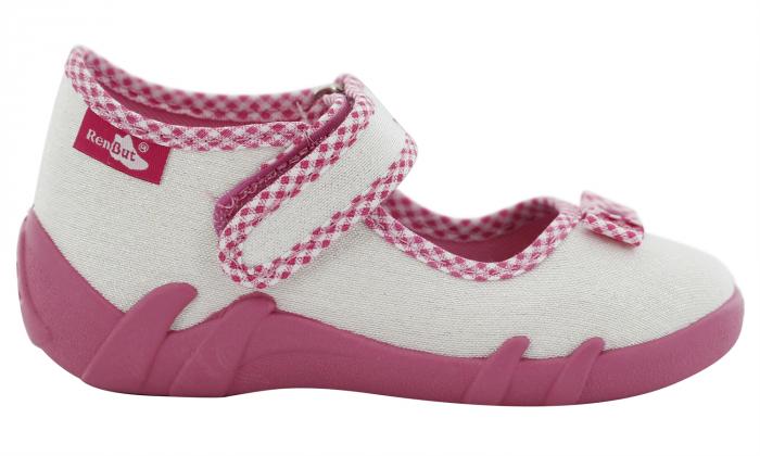 Pantofi fete cu aspect stralucitor, cu fundita (cu scai), din material textil 2