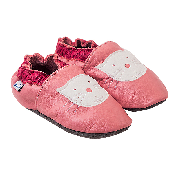 Papucei piele - Cyclamen Kitty 0