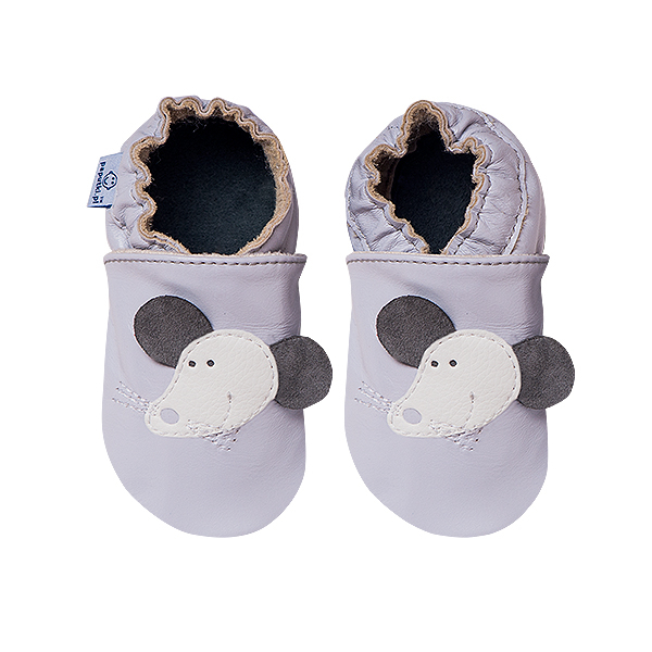 Papucei piele - Grey Mouse 2