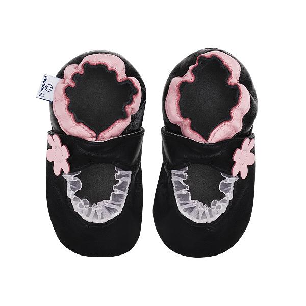 Papucei piele - Pink Balerini 2