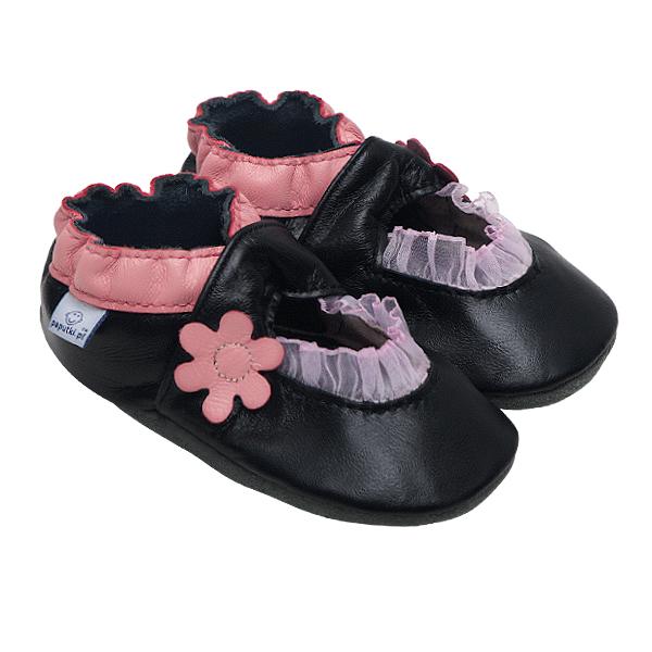 Papucei piele - Pink Balerini 0