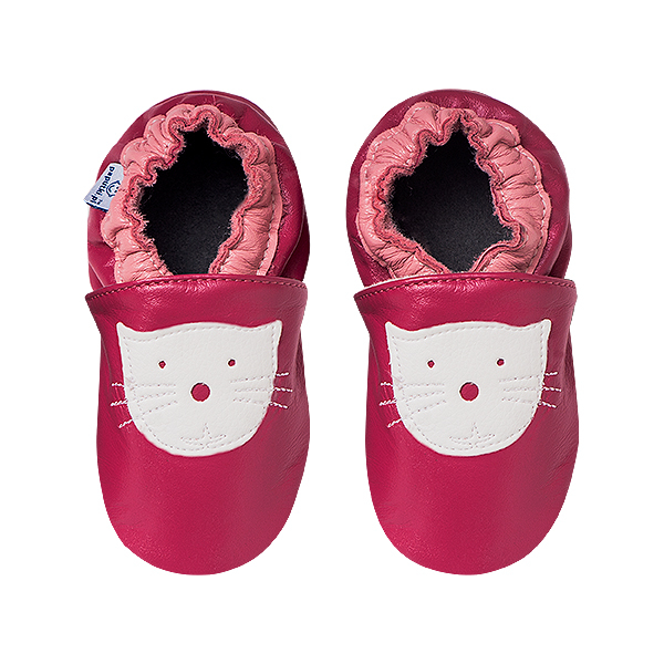 Papucei piele - Pink Kitty 2