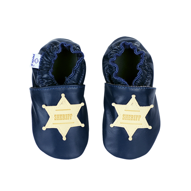 Papucei piele - Western Sheriff 1