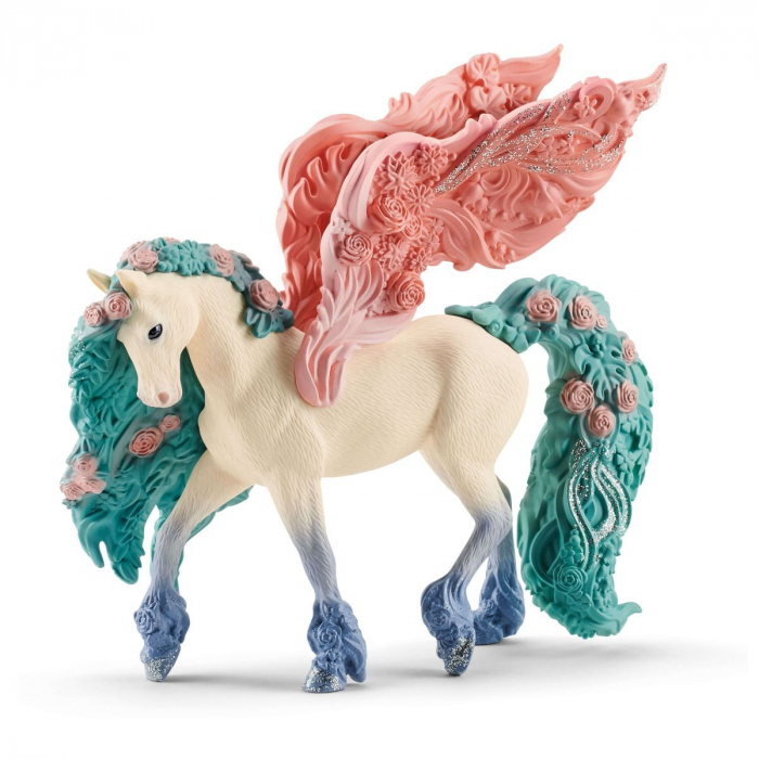 Pegasus impodobit cu flori - Figurina Schleich 70590 0