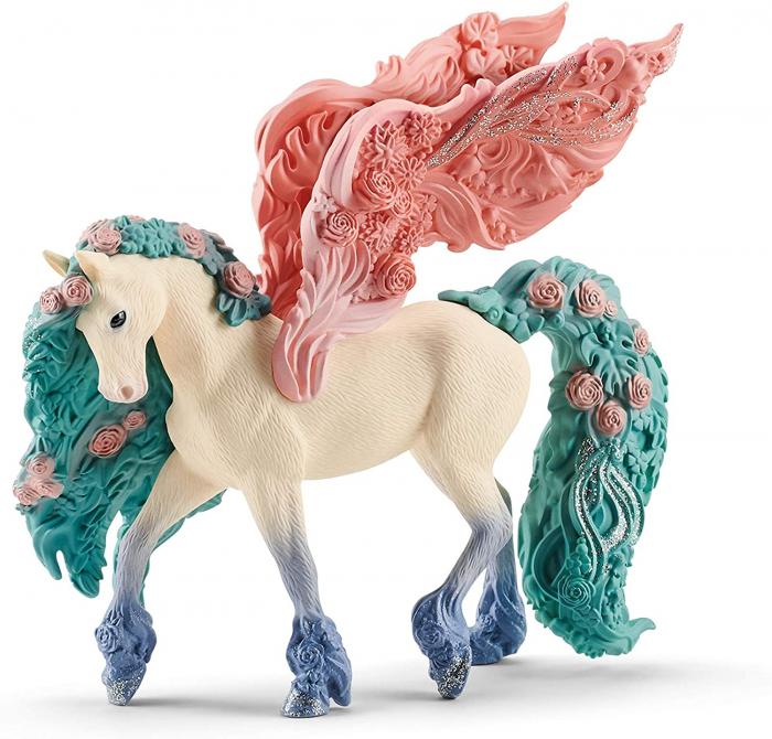 Pegasus impodobit cu flori - Figurina Schleich 70590 4