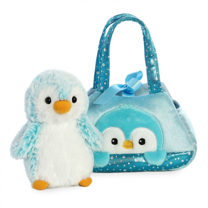 Pinguin albastru in geanta - Fancy Pal - 20 cm, Aurora 32834 1