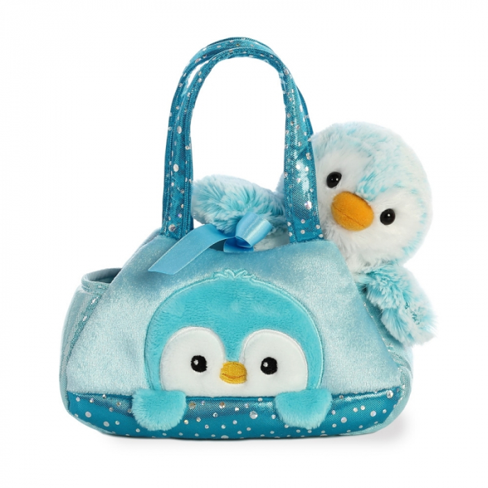 Pinguin albastru in geanta - Fancy Pal - 20 cm, Aurora 32834 2