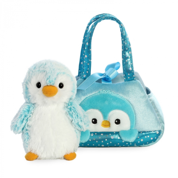 Pinguin albastru in geanta - Fancy Pal - 20 cm, Aurora 32834 3