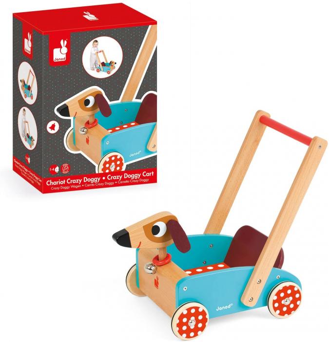Premergator din lemn - Crazy Doggy - cu spațiu de depozitare, Janod J05995 4