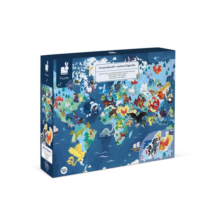 Puzzle educativ - Ființe vii mistice - 350 de piese, Janod J02680 0