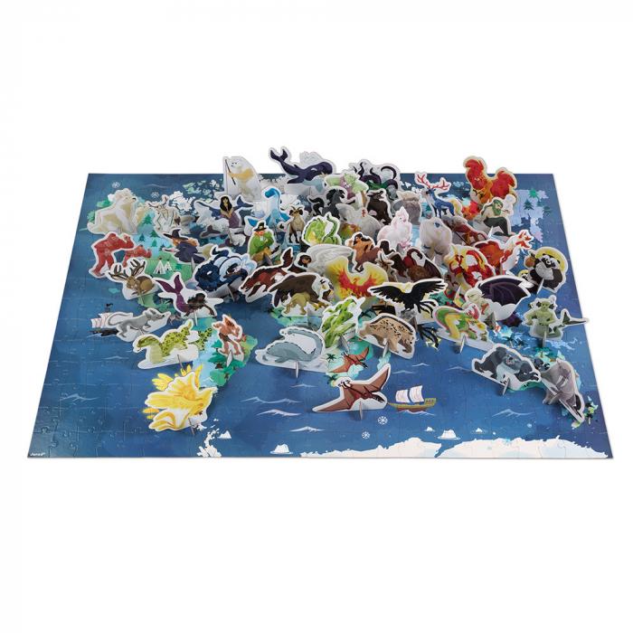 Puzzle educativ - Ființe vii mistice - 350 de piese, Janod J02680 1