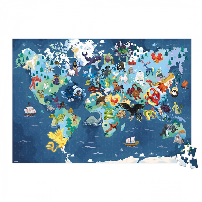 Puzzle educativ - Ființe vii mistice - 350 de piese, Janod J02680 2