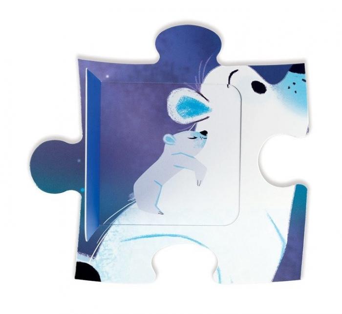 Puzzle surpriza - Sub stele - 20 de piese, Janod J02688 3