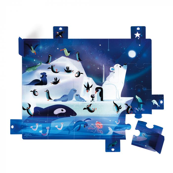 Puzzle surpriza - Sub stele - 20 de piese, Janod J02688 1