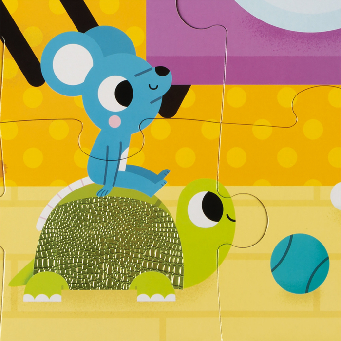 Puzzle tactil - Animale de companie - 20 de piese, Janod J02686 2