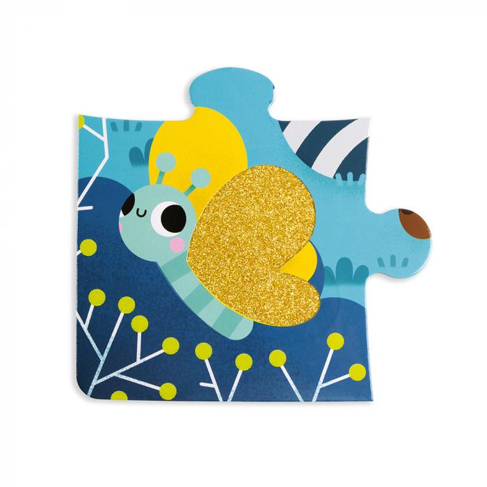 Puzzle tactil - Animale din padure - 20 de piese, Janod J02685 5